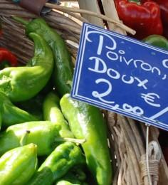 Développement économique dans le Marais poitevin - Étal de légumes