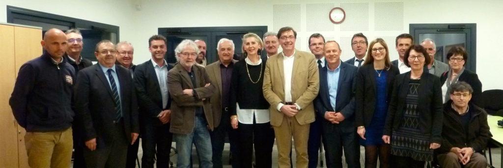 Les élus du bureau du Parc naturel régional du Marais poitevin