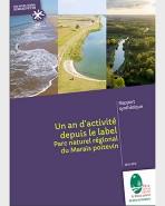 Rapport synthétique - Un an d'activité depuis le label Parc naturel régional du Marais poitevin - 2014-2015