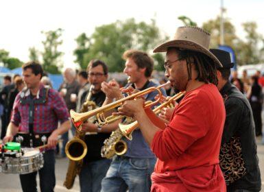 Festival Moul'stock à Charron dans le Marais poitevin, près de La Rochelle