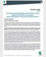 Compte rendu du Comité de pilotage Ateliers paysage Grand Site marais mouillé - Février 2016