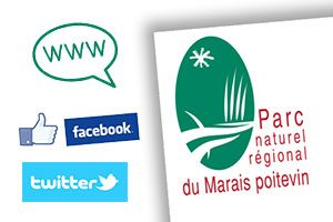 Site internet facebook et twitter Parc naturel régional du Marais poitevin