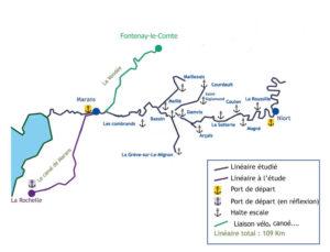 Tourisme fluvial Sèvre navigable - Plan