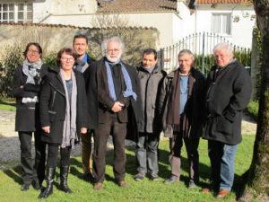 Conseil scientifique du Parc naturel régional du Marais poitevin. De gauche à droite : Anne Bonis, Catherine Tromas, Laurent Godet, Dominique Hoestland, Yannis Suire, Jean-Marie Gilardeau, Jean-Pierre Bertrand.