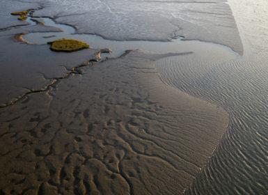 Vue aérienne de la baie de l'Aiguillon - Parc naturel régional du Marais poitevin