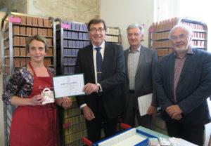 La Savonnerie Champagne reçoit l'attestation officielle Valeurs Parc naturel régional