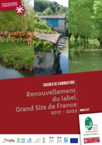Couv Dossier de candidature pour le renouvellement du label Grand Site de France Marais poitevin