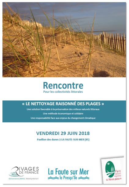 Affiche Rencontre Nettoyage des plages - 29 juin 2016 - Parc naturel régional du Marais poitevin