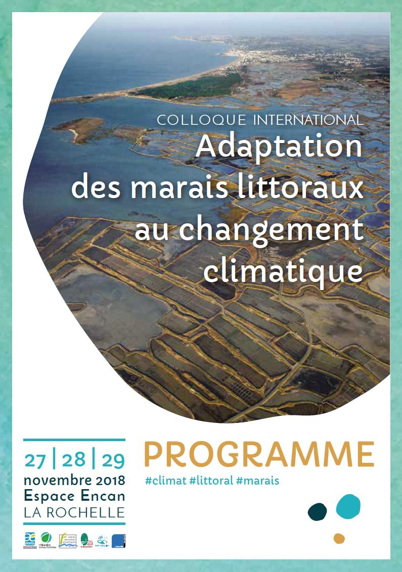 Couv programme colloque climat littoral marais PNRMP