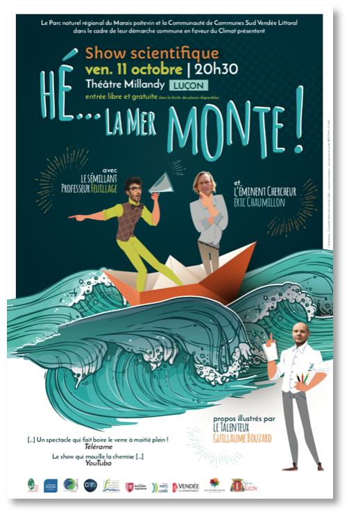 """Affiche version web - """"Hé... La mer monte !"""" - Luçon - 11 octobre 2019"""